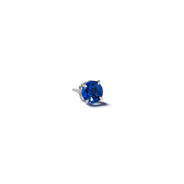 Mimi-So-Blue-Sapphire-Single-Stud-Earring_18k White Gold