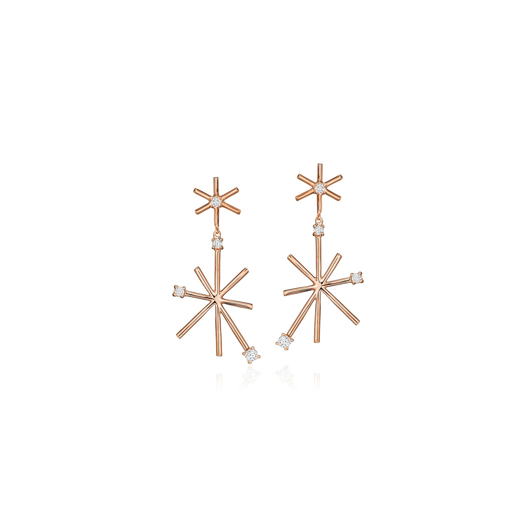 Mimi-So-Piece-Star-Drop-Earrings_18k Rose Gold