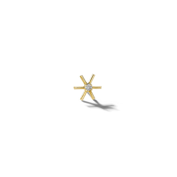 Mimi-So-Piece-Star-Diamond-Single-Stud-Earring_18k Yellow Gold