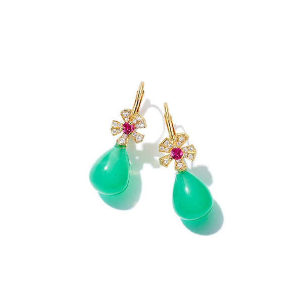 Mimi-So-Wonderland-Orchid-Chrysoprase-Teardrop-Earrings_18k Yellow Gold