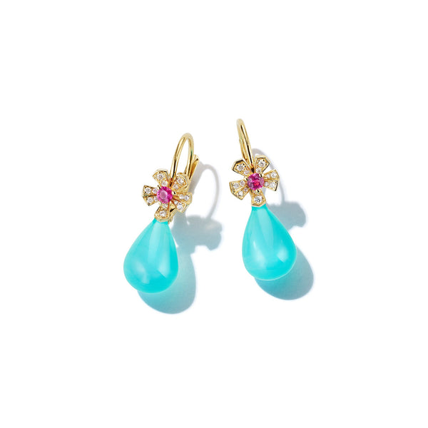 Wonderland Teardrop Peruvian Opal Earrings_18k Yellow Gold