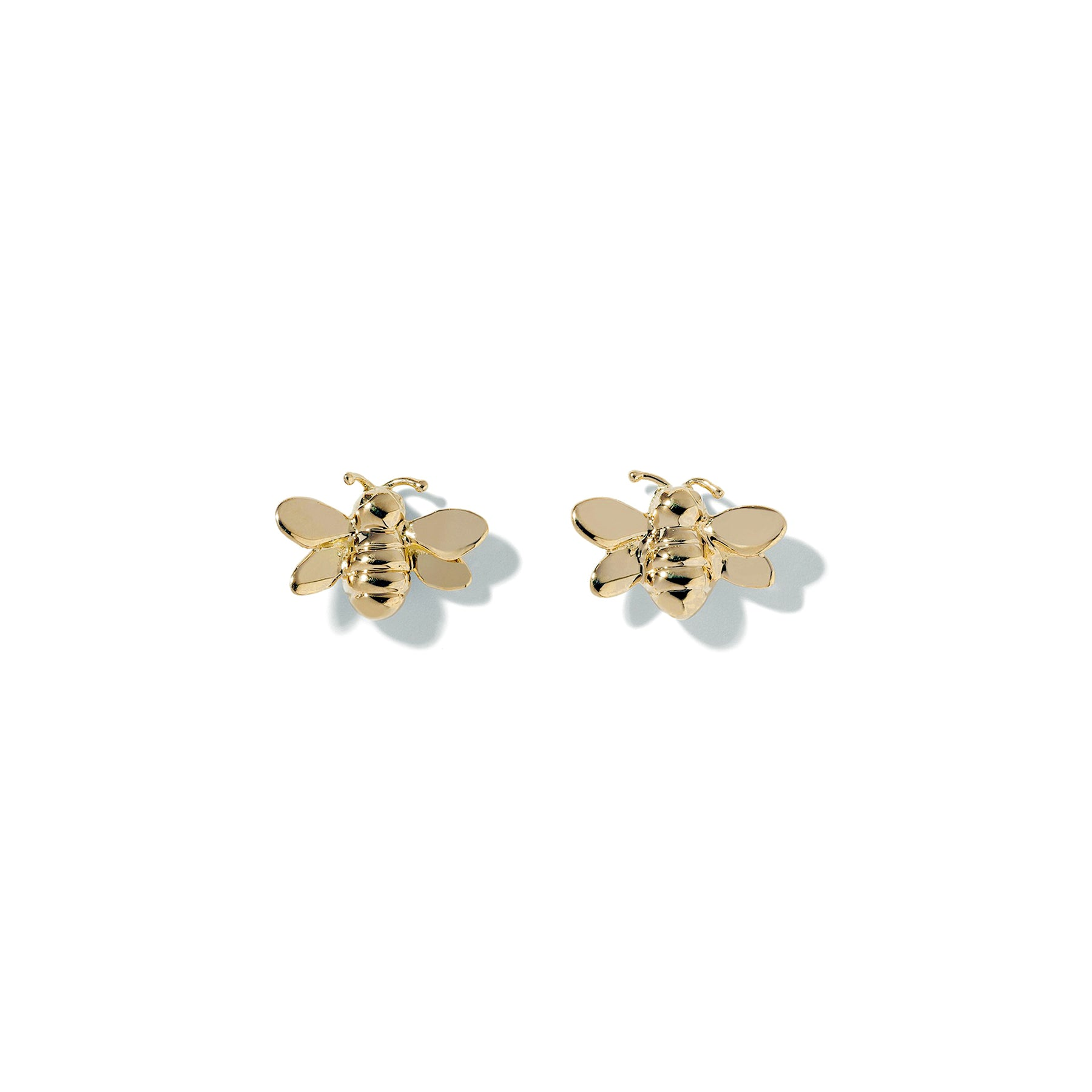 Mimi-So-Wonderland-Bumble-Bee-Studs_18k Yellow Gold