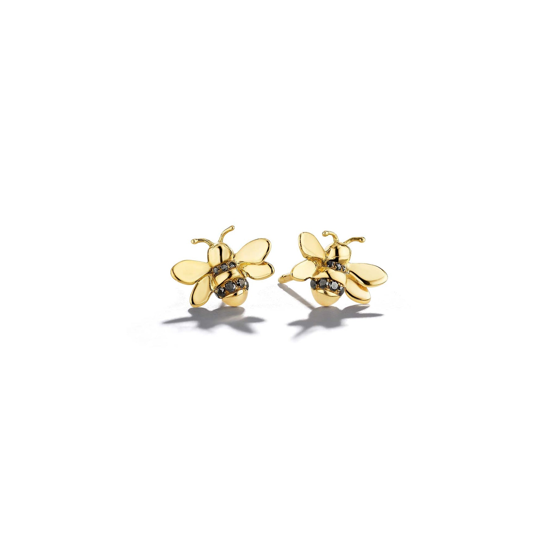 Wonderland-Bumble-Bee-Single-Studs_18k Yellow Gold