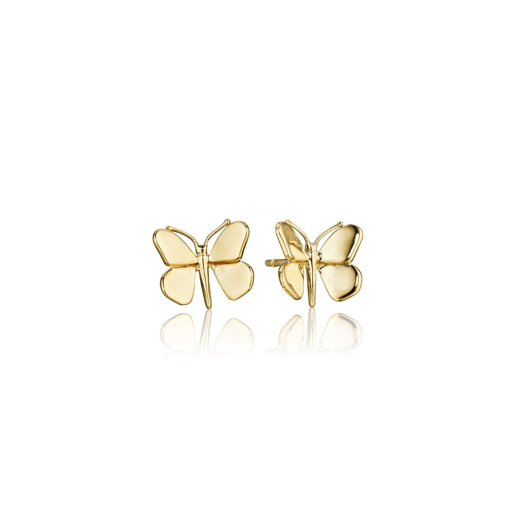 Mimi-So-Butterfly-Stud-Earrings_18k Yellow Gold