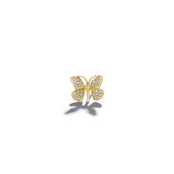 Wonderland-Butterfly-Diamond-Stud_18k Yellow Gold