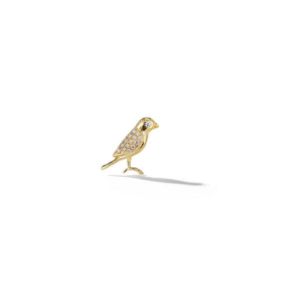 Mimi-So-Lovebird-Diamond-Right-Stud_18k Yellow Gold