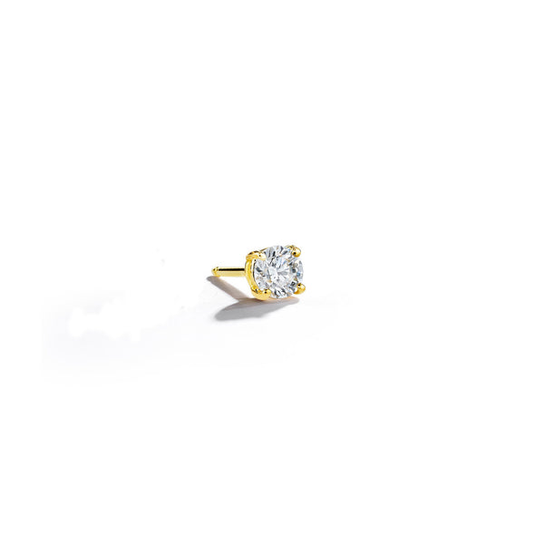 Round-Diamond-Stud-4mm_18k Yellow Gold