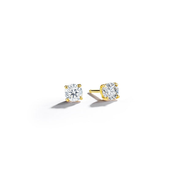 Round-Diamond-Studs-3mm_18k Yellow Gold