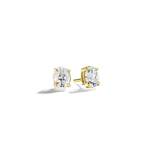 Oval-Diamond-Studs_18k Yellow Gold