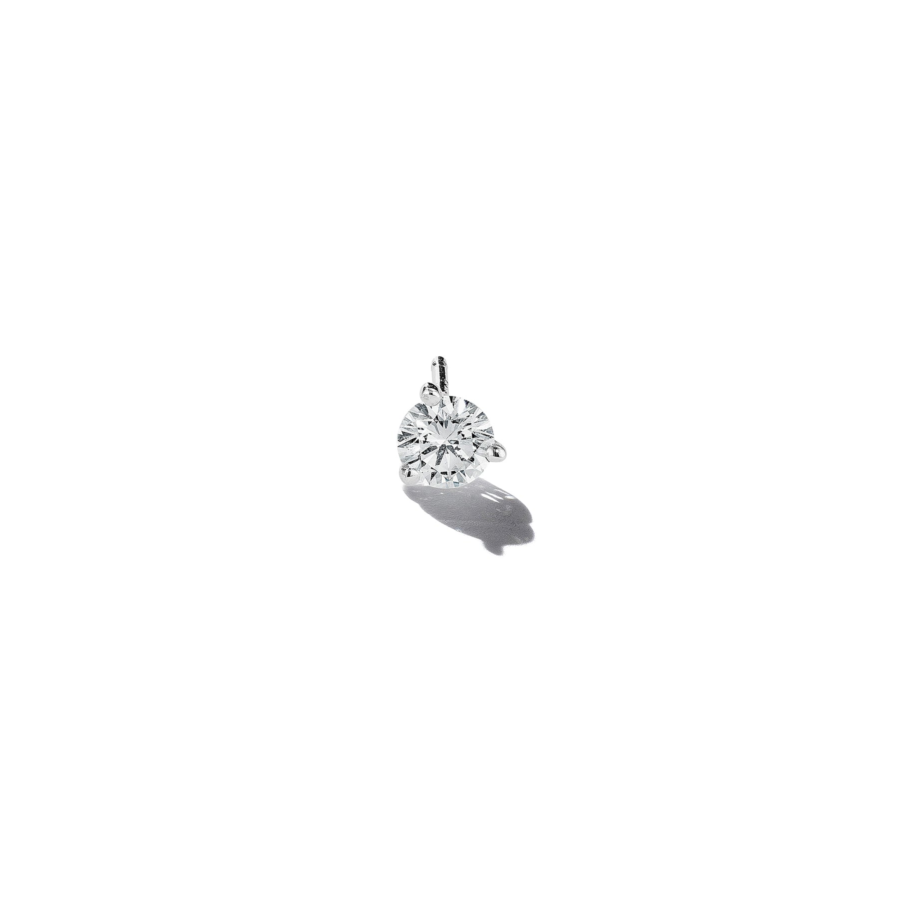 Martini Style Diamond Single Stud – 4mm