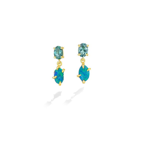 ZoZo-Boulder-Opal-&-Tourmaline-Drop-Earrings_18k Yellow Gold