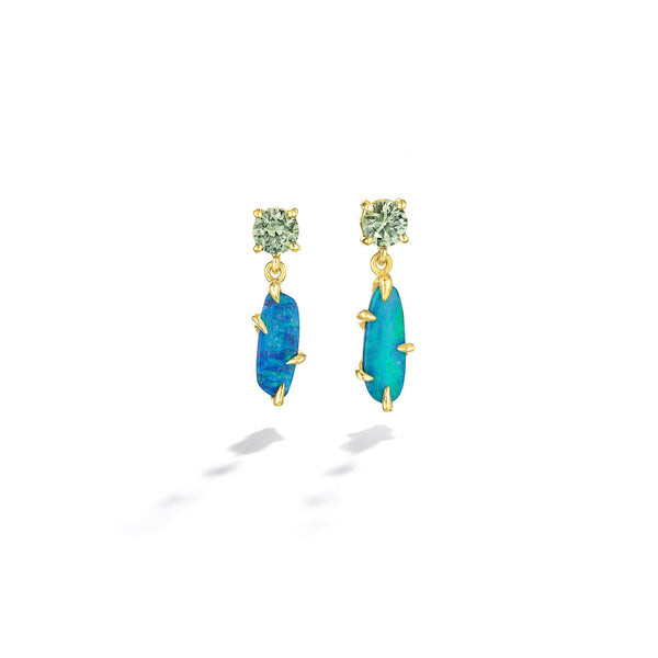 ZoZo-Boulder-Opal-&-Green-Sapphire-Drop-Earrings_18k Yellow Gold