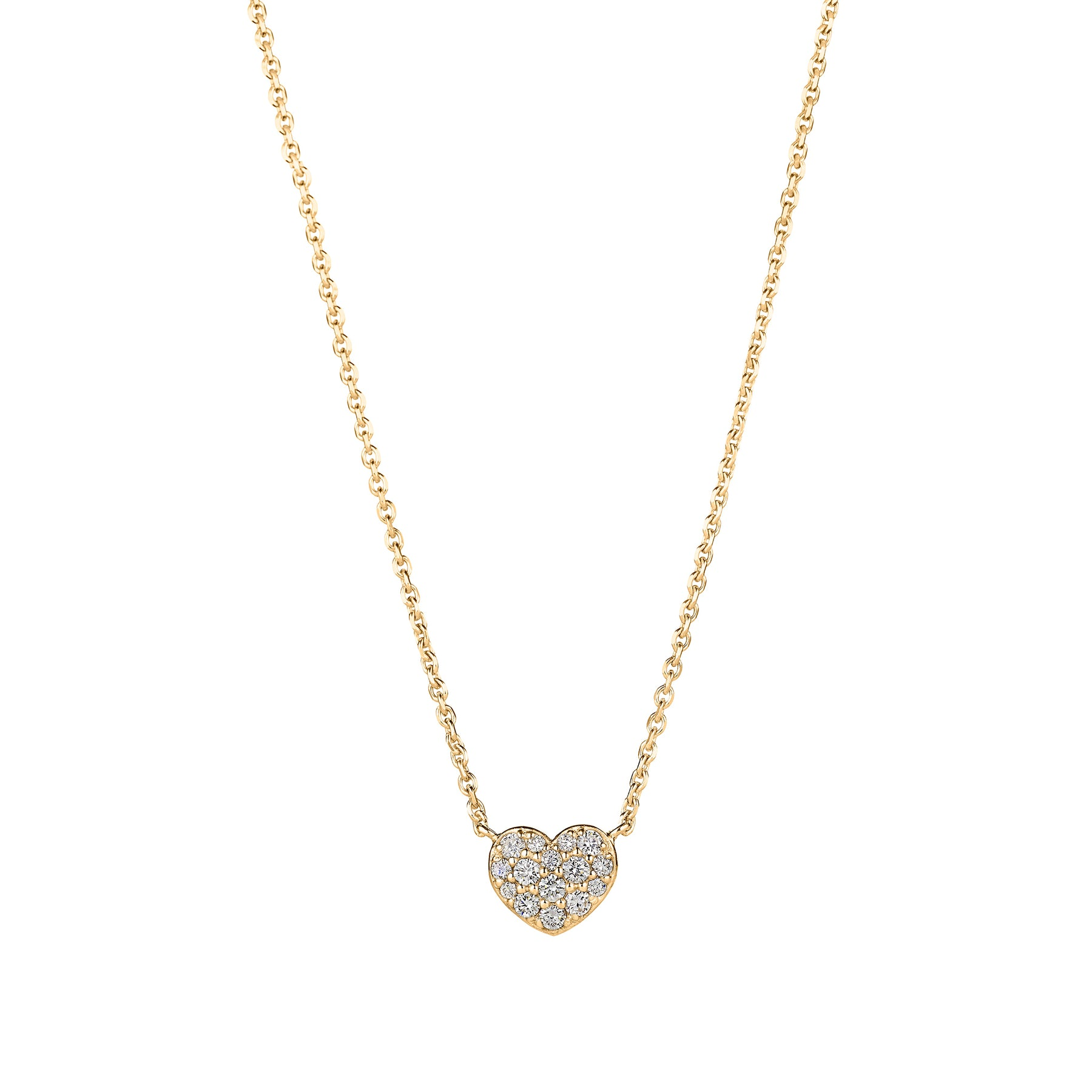 Mimi-So-Diamond-Heart-Necklace_18k Yellow Gold