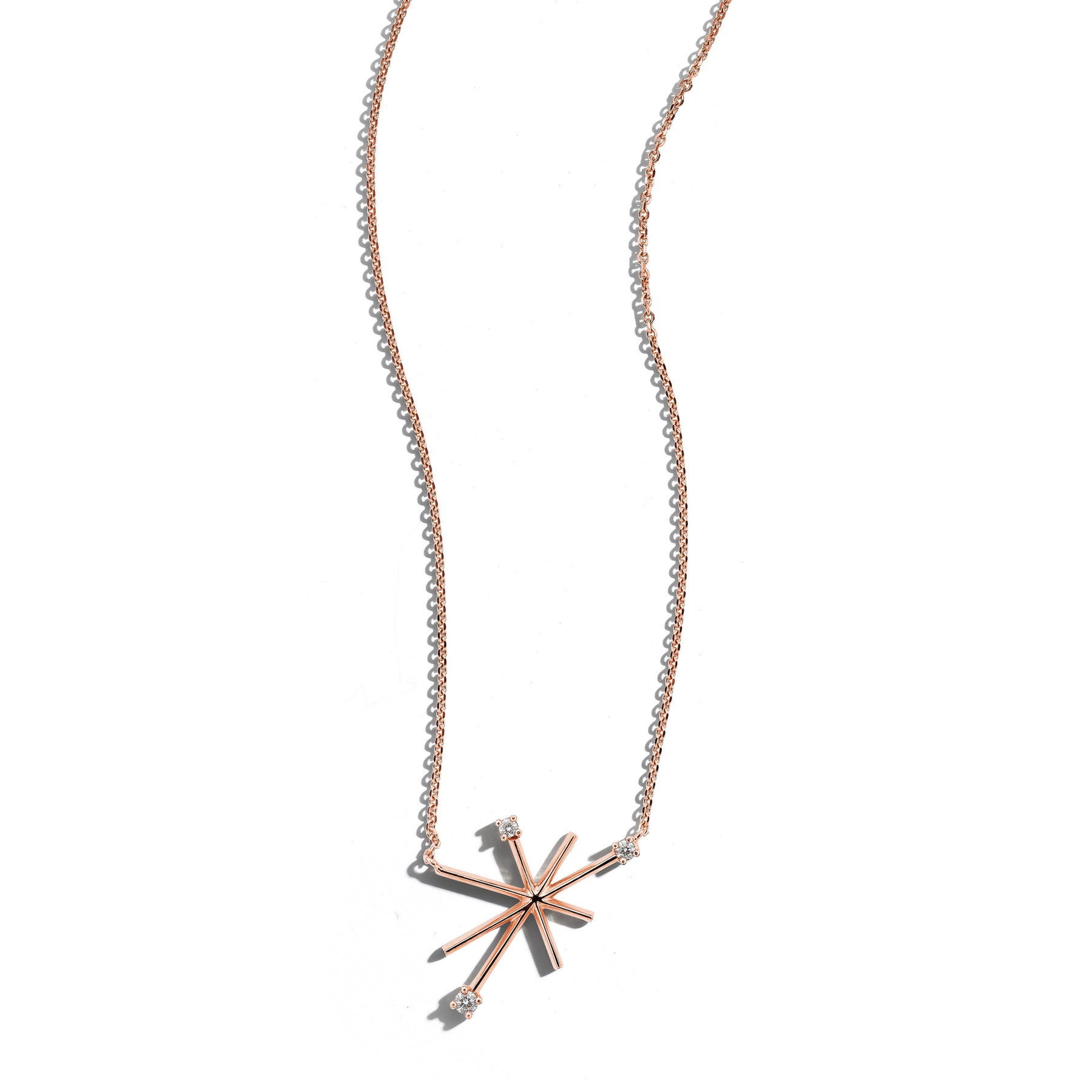 Mimi-So-Piece-Star-Necklace-Small_18k Rose Gold
