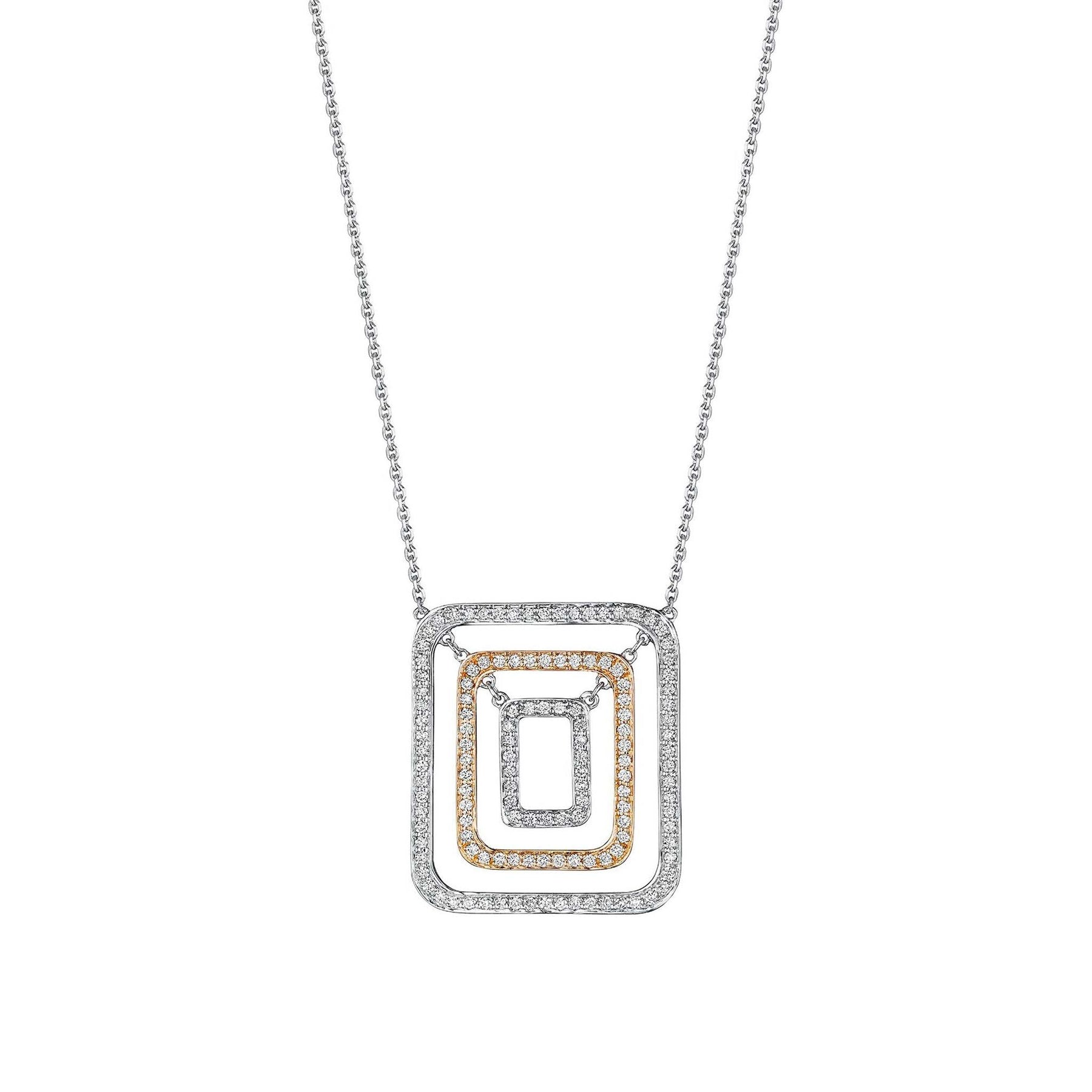 Mimi-So-Piece-Square-Swing-Necklace_18k White/Rose Gold