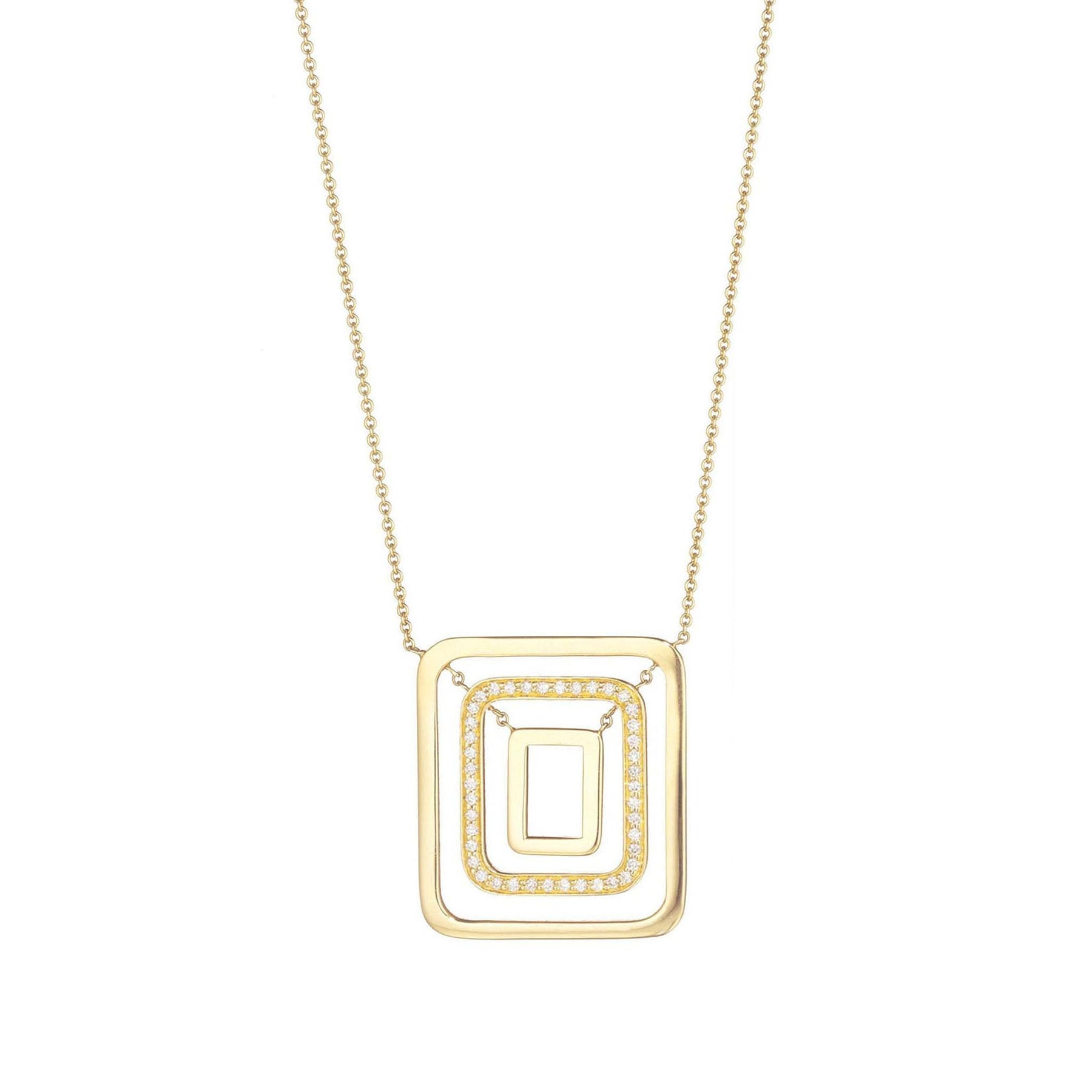Mimi-So-Piece-Square-Swing-Diamond-Necklace_18k Yellow Gold