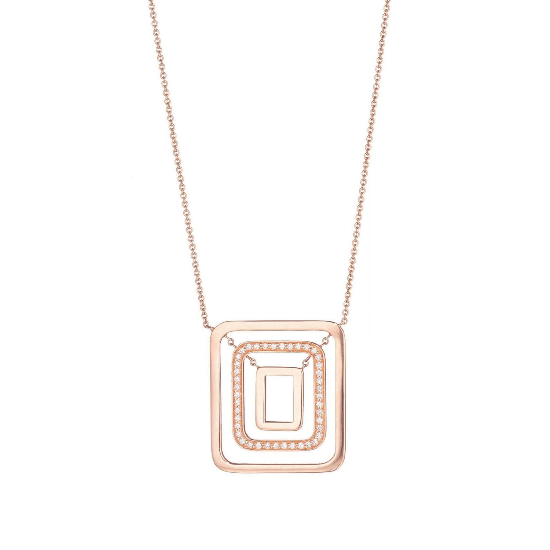 Mimi-So-Piece-Square-Swing-Diamond-Necklace_18k Rose Gold