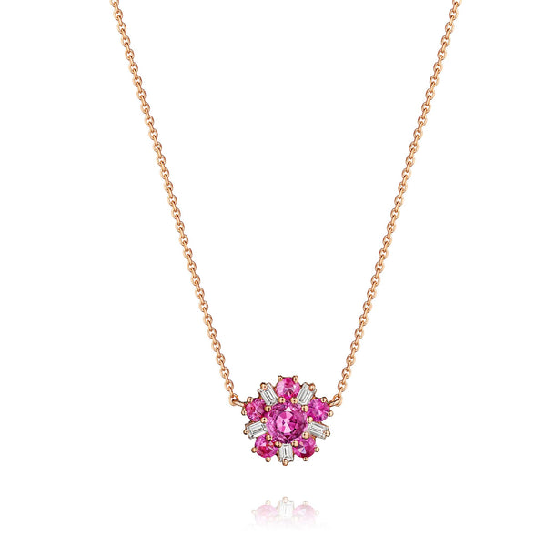 Mimi-So-Wonderland-Ballerina-Necklace-Pink-Sapphires_18k Rose Gold