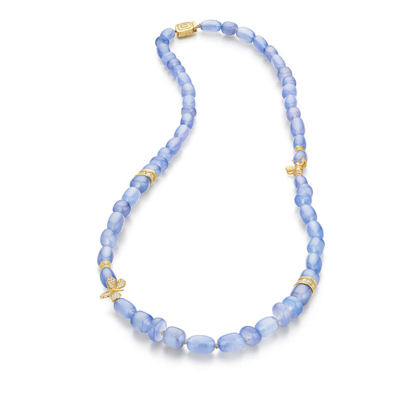 Mimi-So-Blue-Chalcedony-Bead-Necklace_18k Yellow Gold