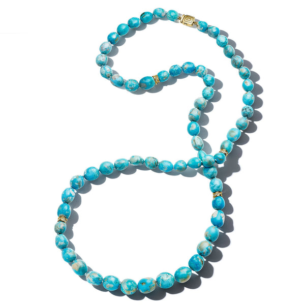 Mimi-So-Wonderland-Turquoise-Bead-Necklace_18k Yellow Gold