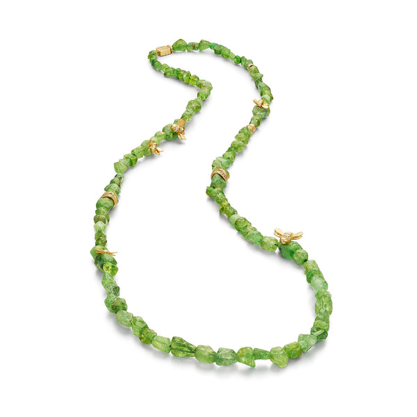 Mimi-So-Wonderland-African-Tsavorite-Bead-Necklace_18k Yellow Gold