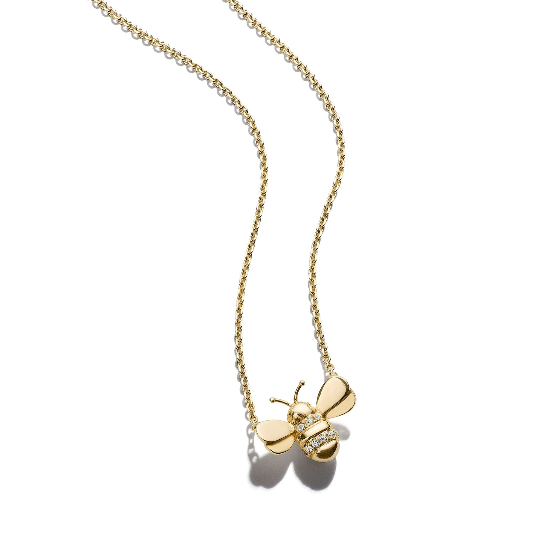 Mimi-So-Wonderland-Bumble-Bee-Necklace_18k Yellow Gold
