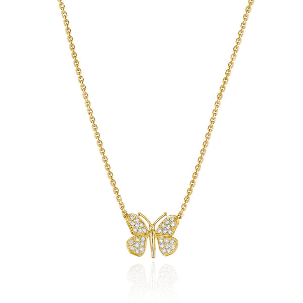 Mimi-So-Wonderland-Butterfly-Diamond-Pendant-Necklace_18k Yellow Gold