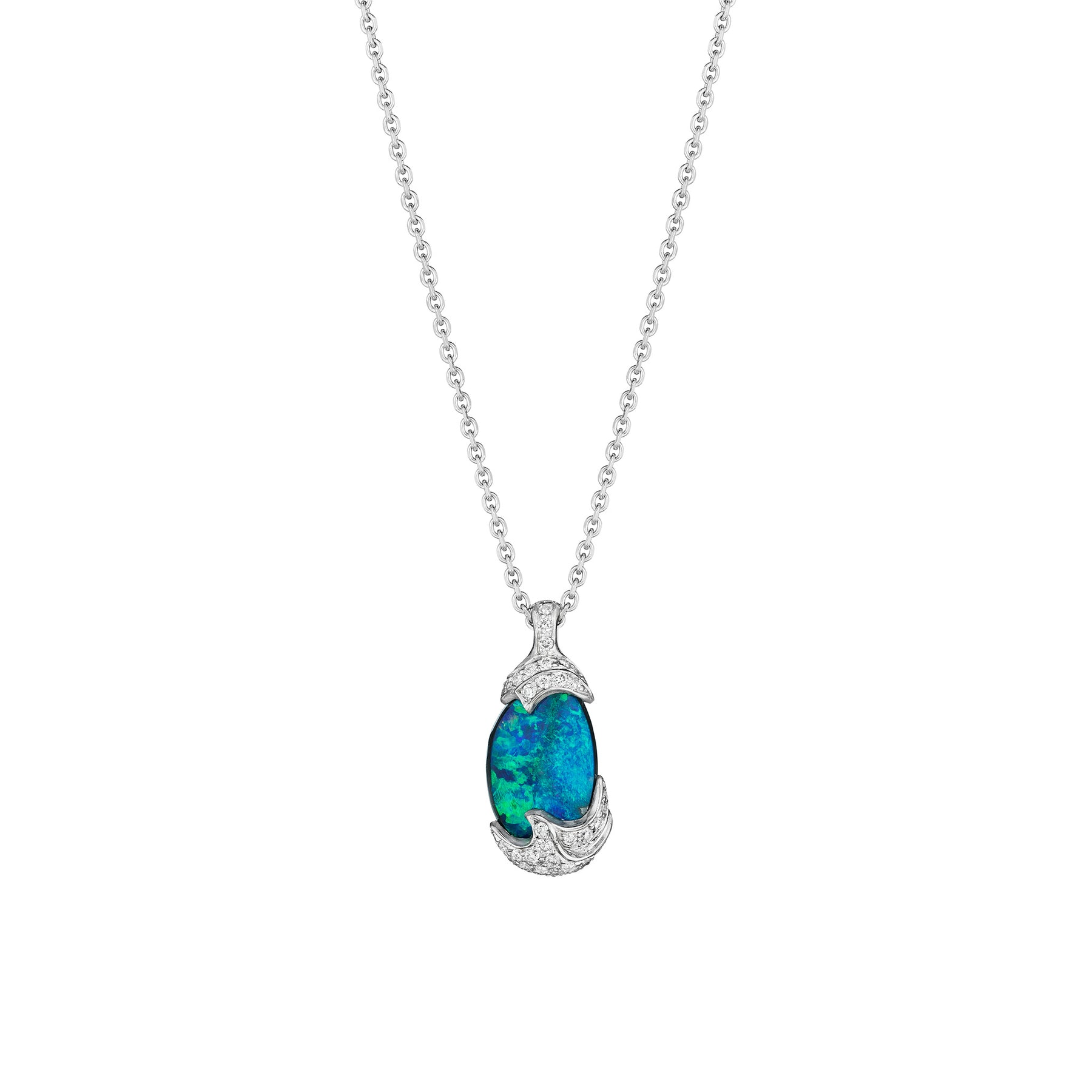 Mimi-So-ZoZo-Boulder-Opal-Pendant-Necklace_18k White Gold