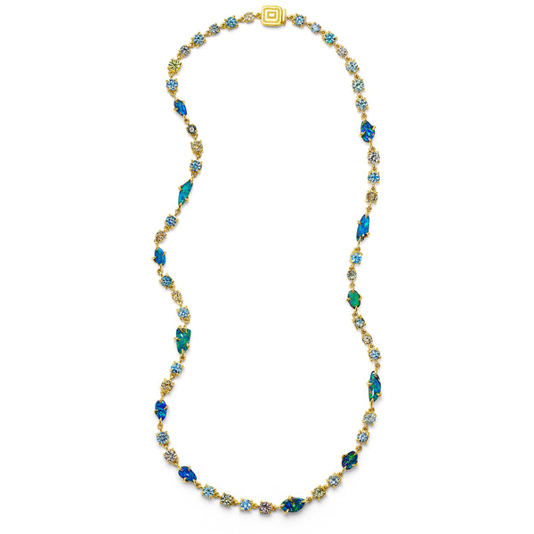 Zozo-Opal-Sapphire-Aquamarine-Necklace_18k Yellow Gold