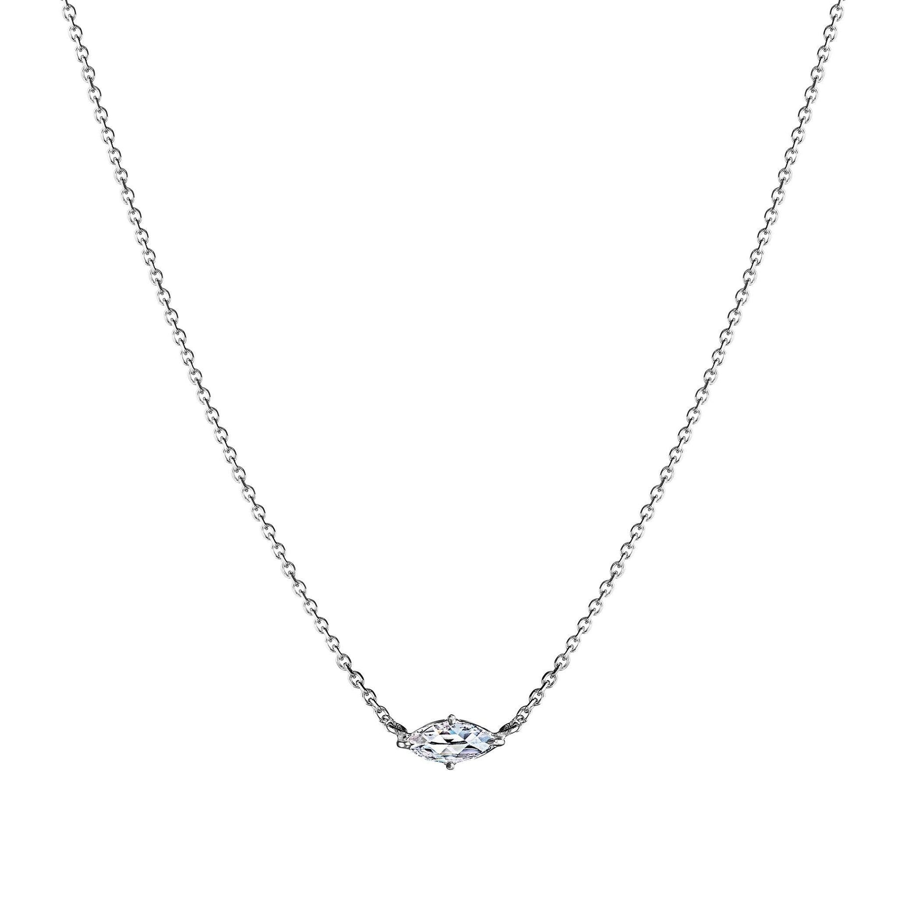 Mimi-So-Rose-cut-marquise-diamond-solitaire-necklace_18k White Gold