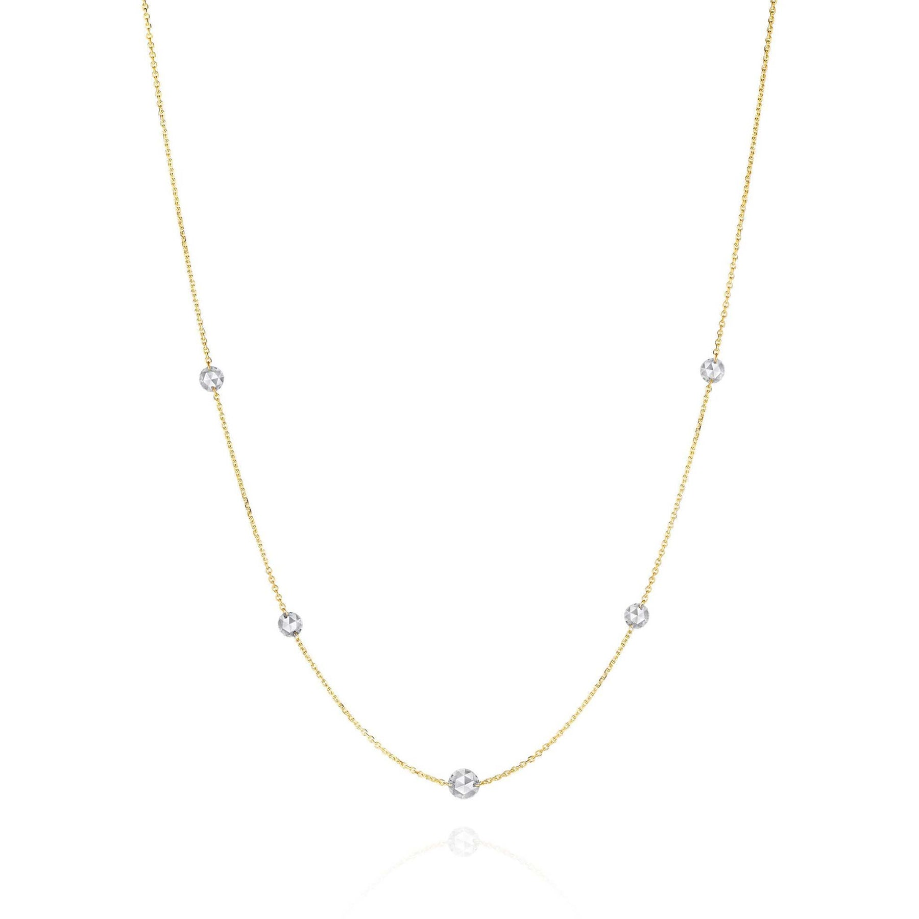 Mimi-Rosette-Couture-Rose-Cut-Diamond-Necklace_18k Yellow Gold