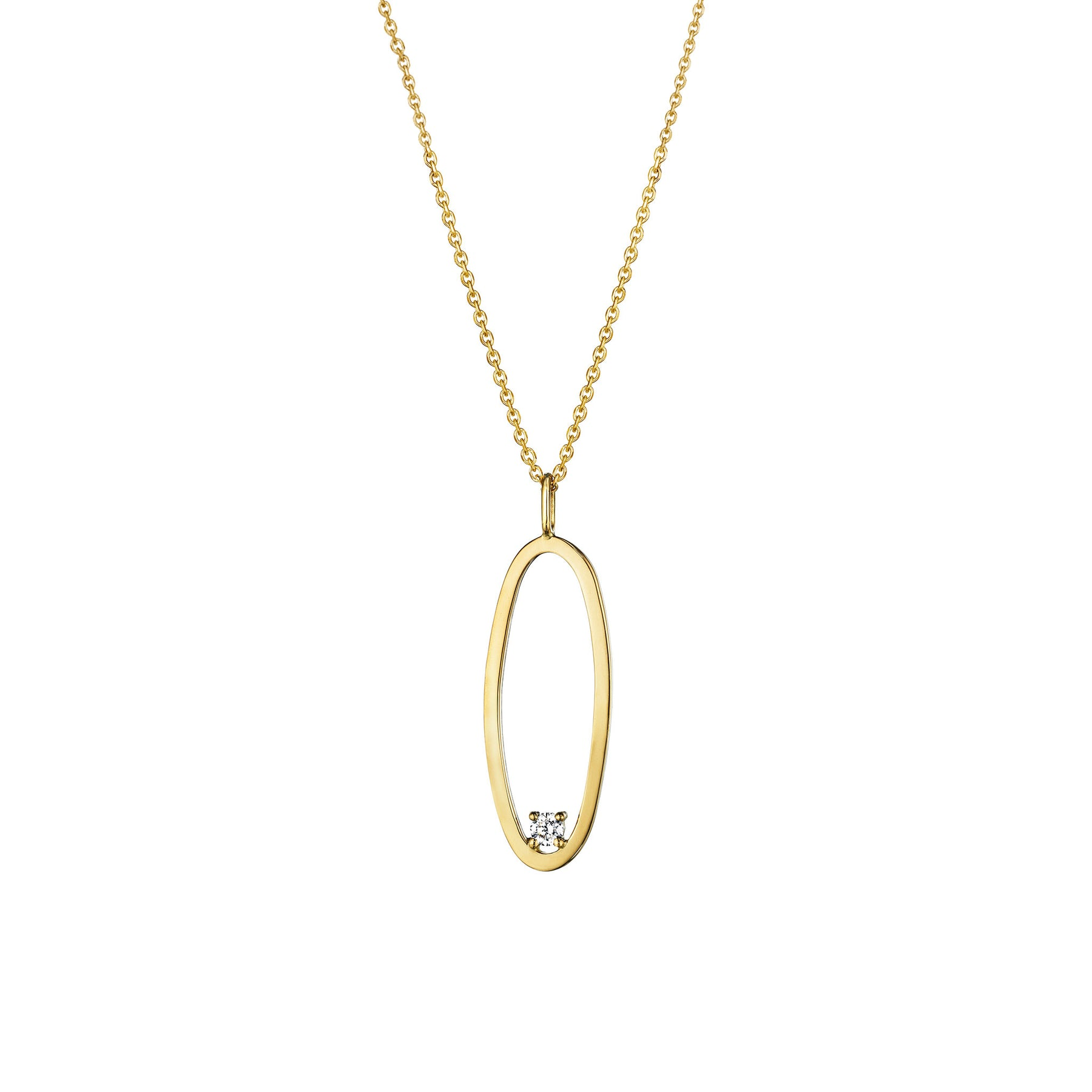 "Type Letter ""O"" Pendant Necklace_18k Yellow Gold"