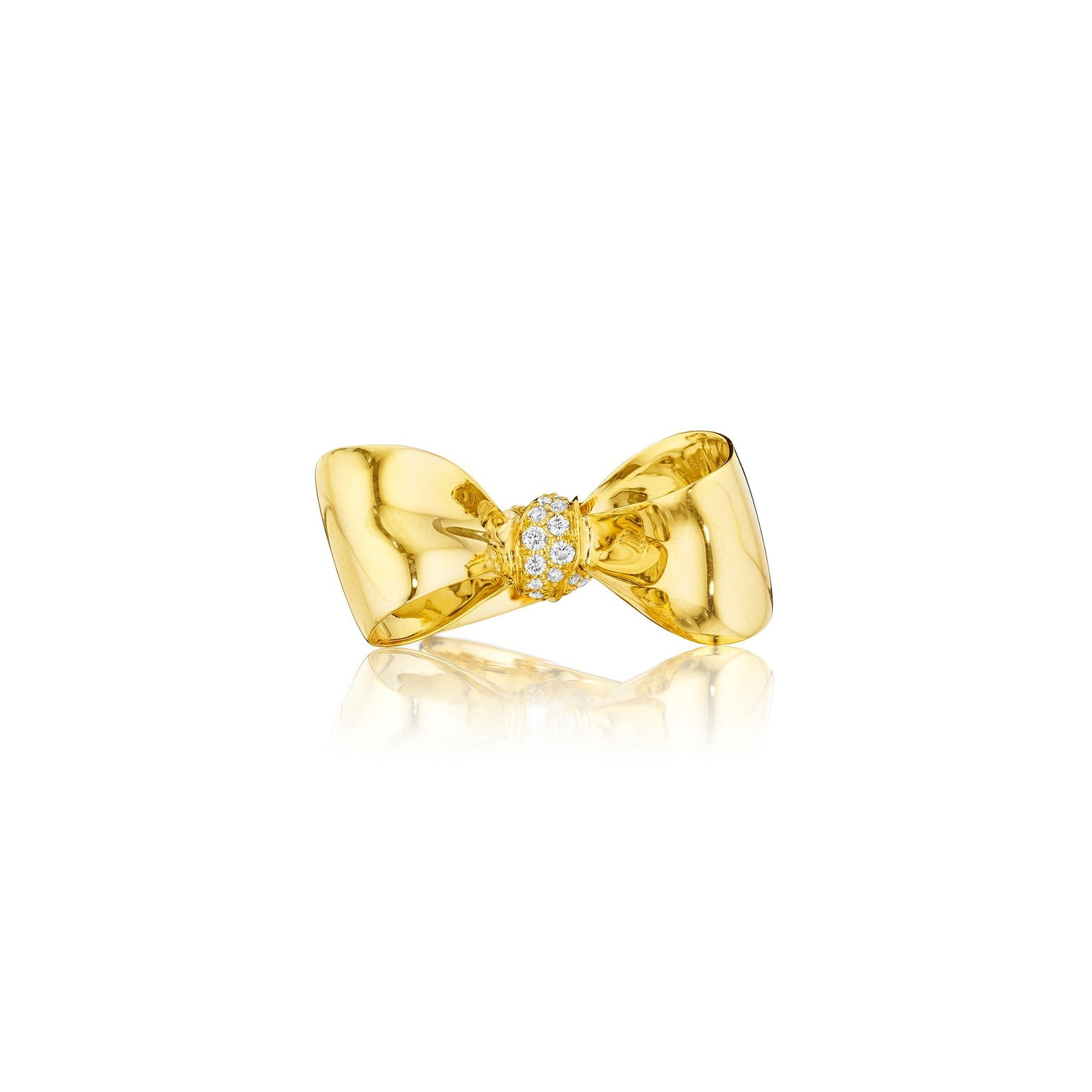 Bow Diamond Knot Ring_18k Yellow Gold