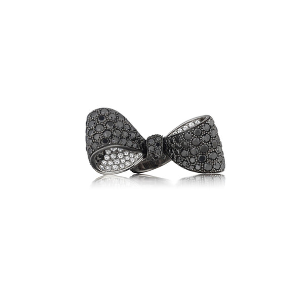 Mimi-So-Bow-Black-Diamond-Ring-Mid_18k White/Black Gold