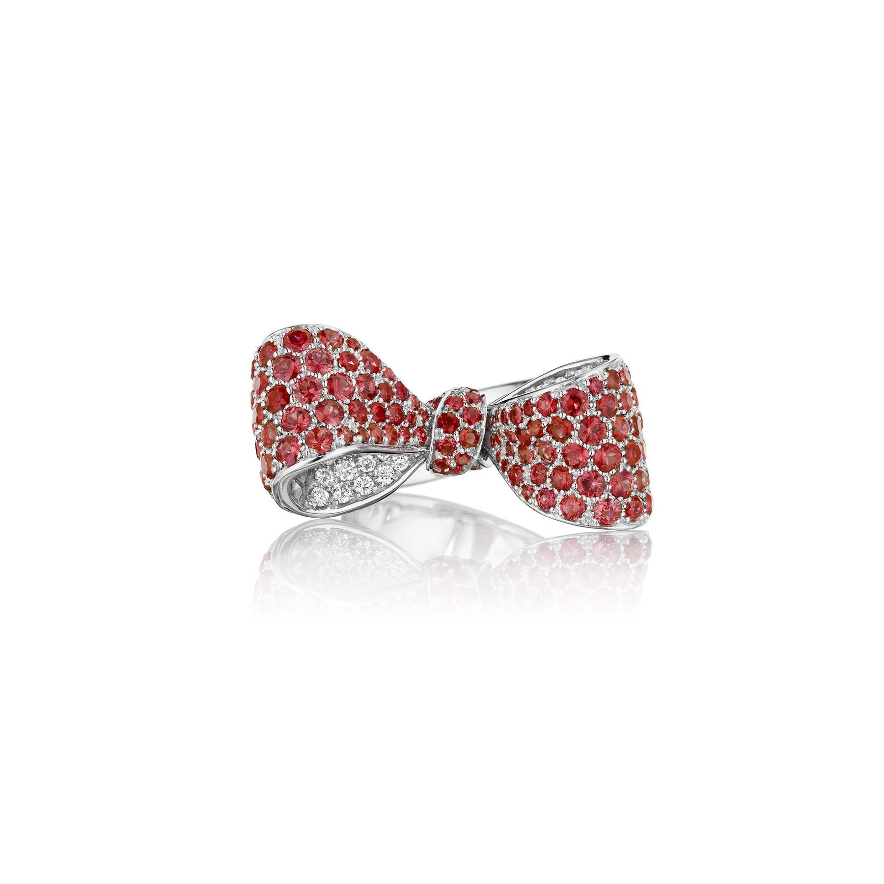 Mimi So Bow Ruby & Diamond Ring_18k White Gold