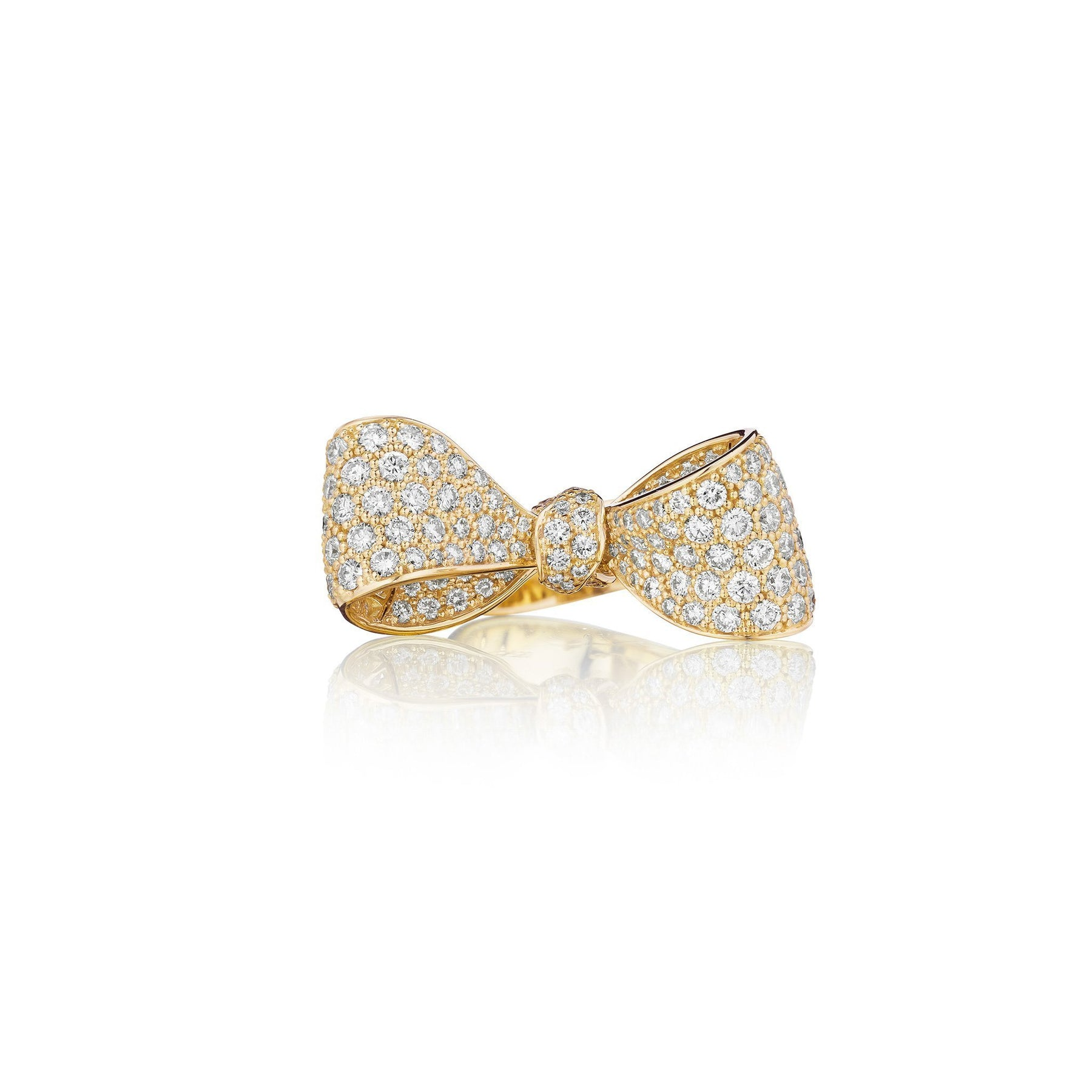 Mimi-So-Medium-Diamond-Bow-Ring_18k Yellow Gold