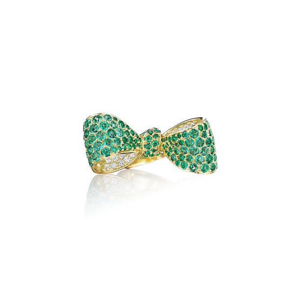 Mimi-So-Bow-Emerald-Diamond-Ring_18k Yellow Gold