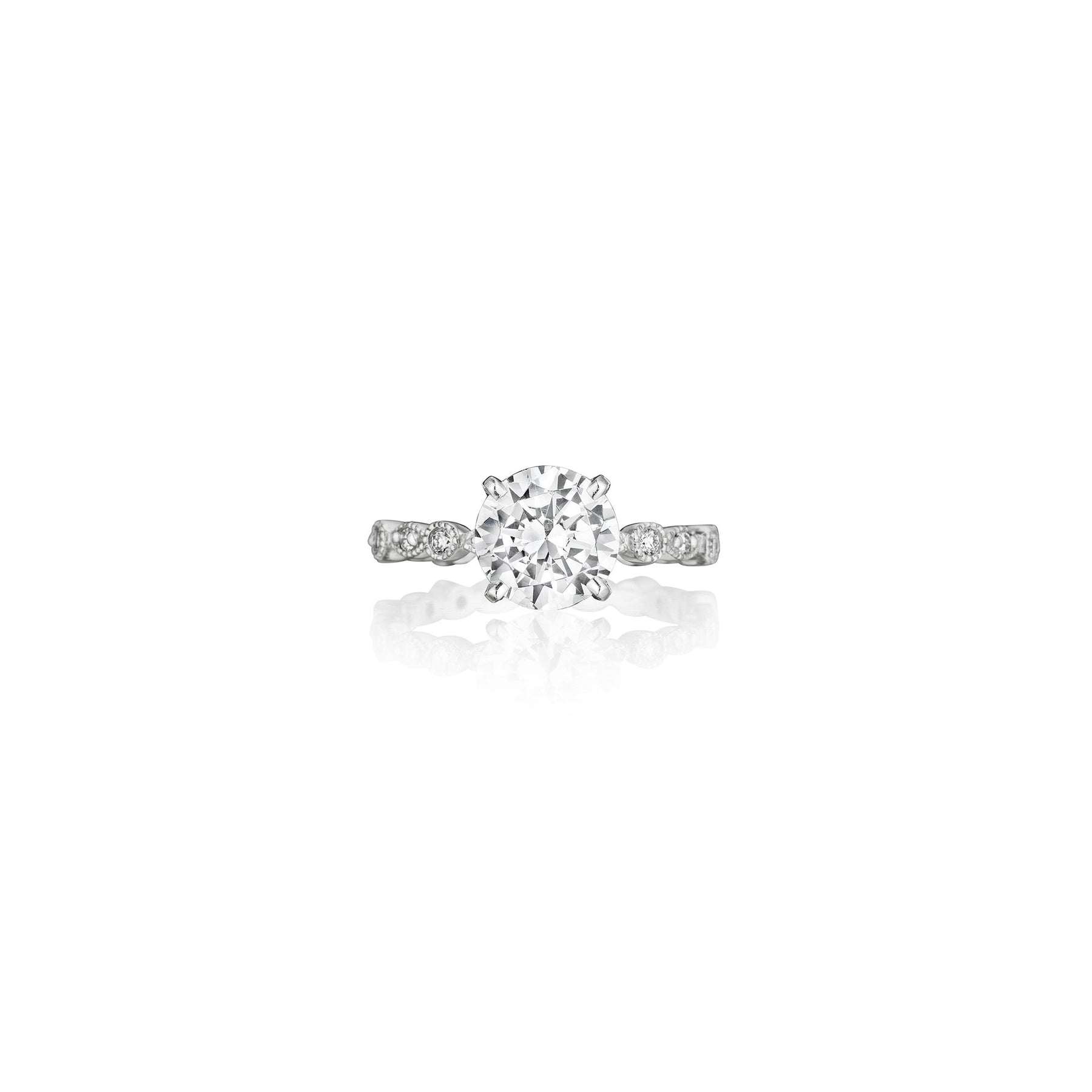Madrid Diamond Eternity Engagement Ring 2mm_Platinum