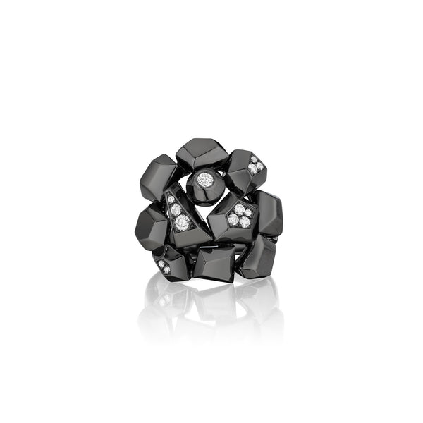 Mimi-So-Jackson-Cluster-Diamond-Ring_18k Black Gold