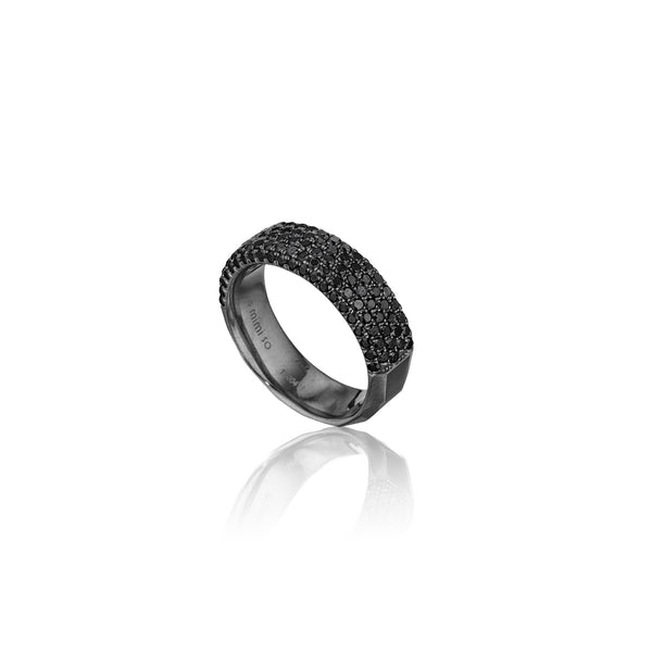 Jackson-Switch-6-Row-Diamond-Stackable-Ring_18k Black Gold