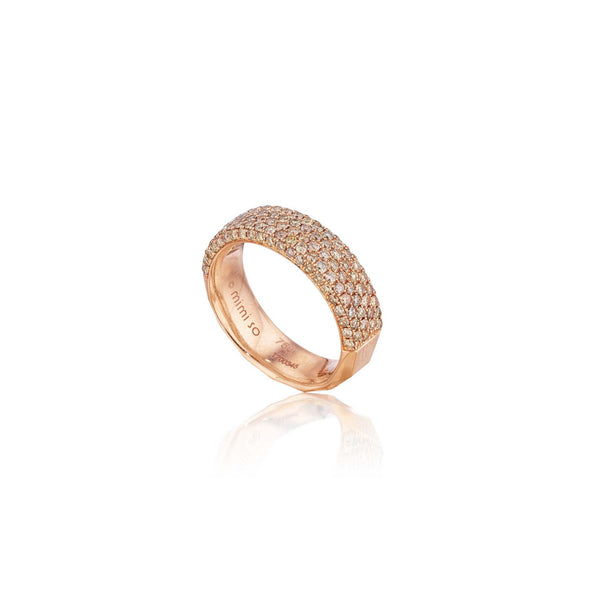 Jackson Switch 6-Row Brown Diamond Ring_18k Rose Gold