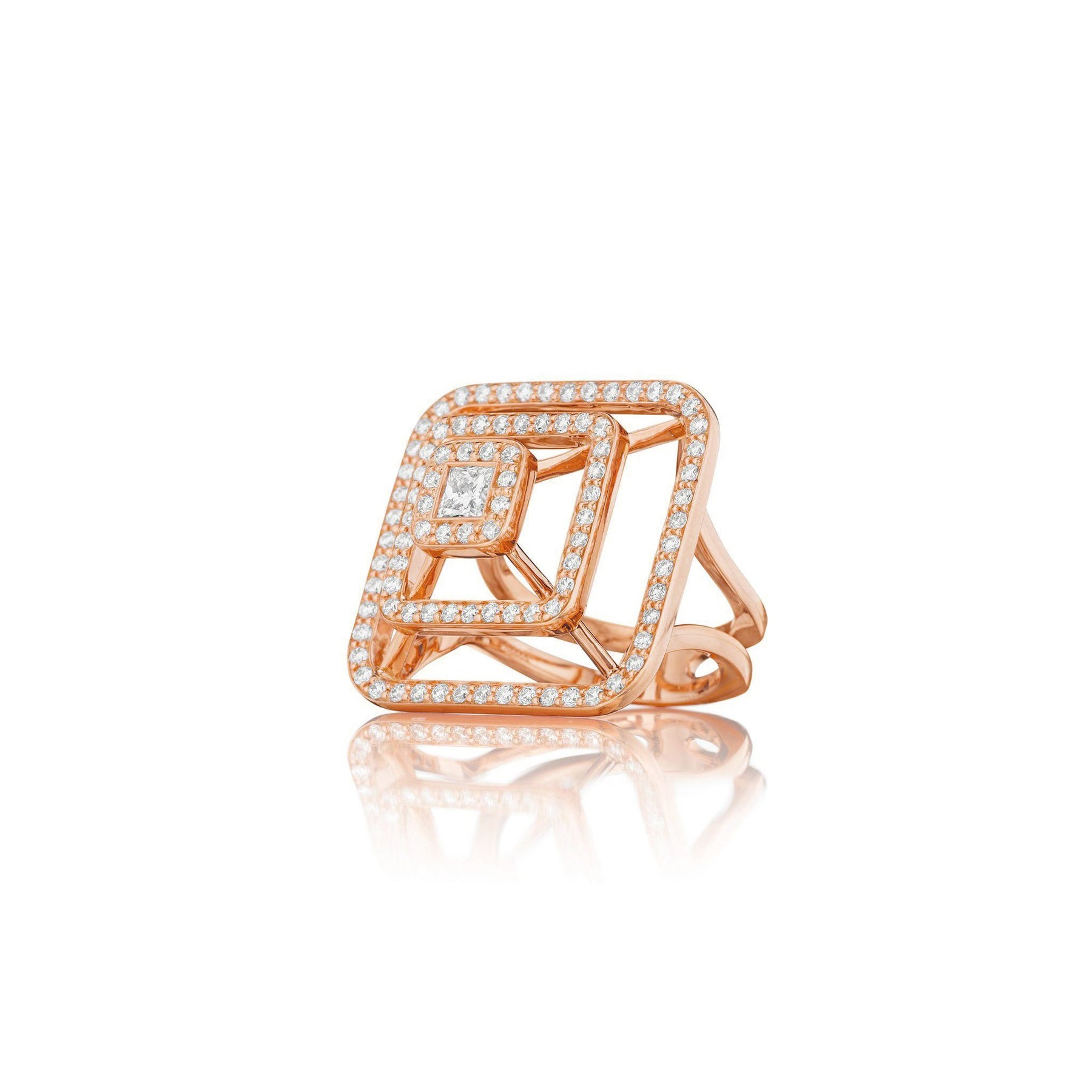 Mimi So Piece Pyramid Diamond Ring_18k Rose Gold