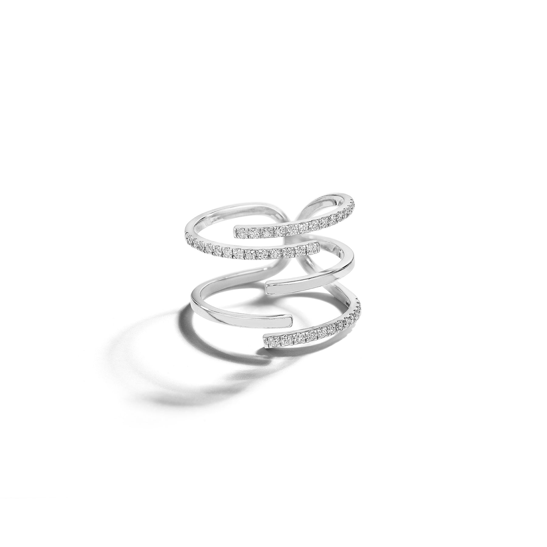 Mimi So Piece Stick Pave Diamond Ring_18k White Gold