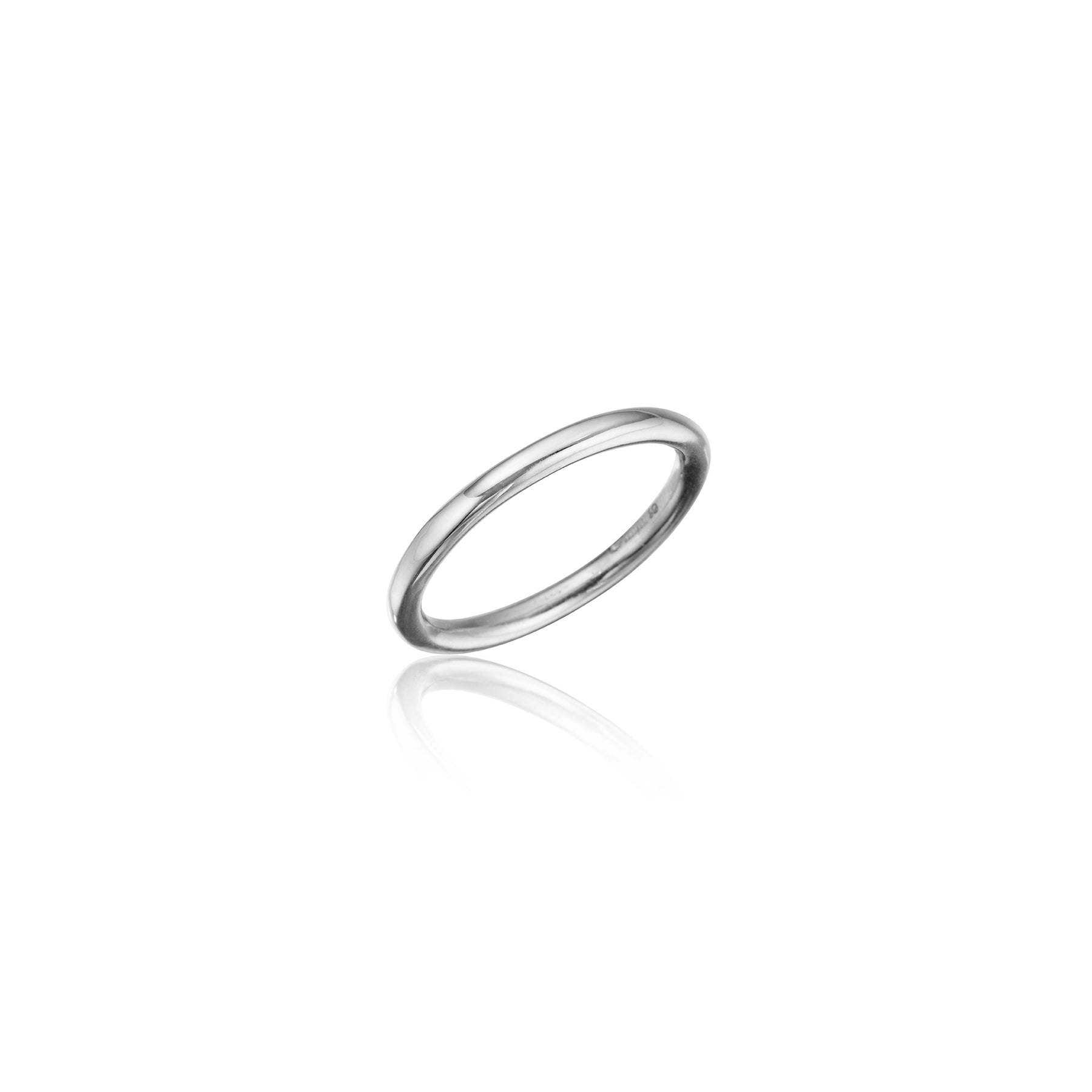 Bond Classic Stackable Band_Platinum