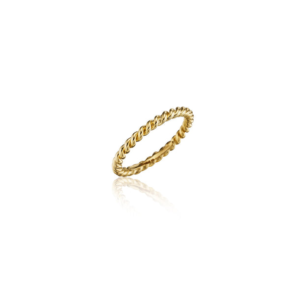 Wooster Rope Stackable Band_18k Yellow Gold
