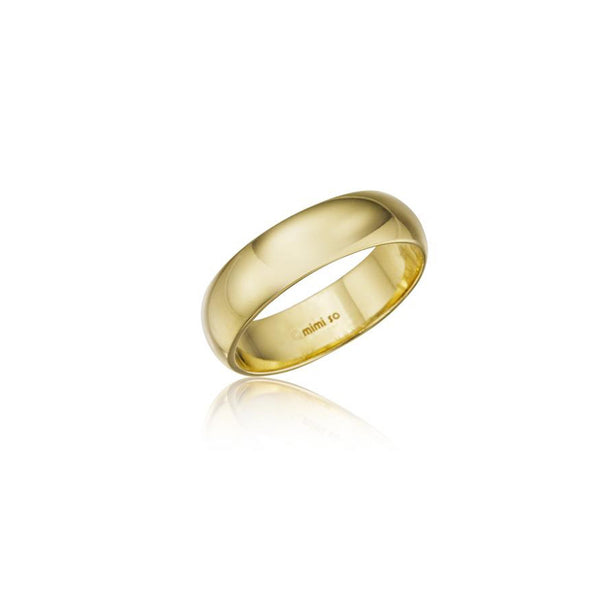 Men's Comfort Fit Wedding Band_18k Yellow Gold