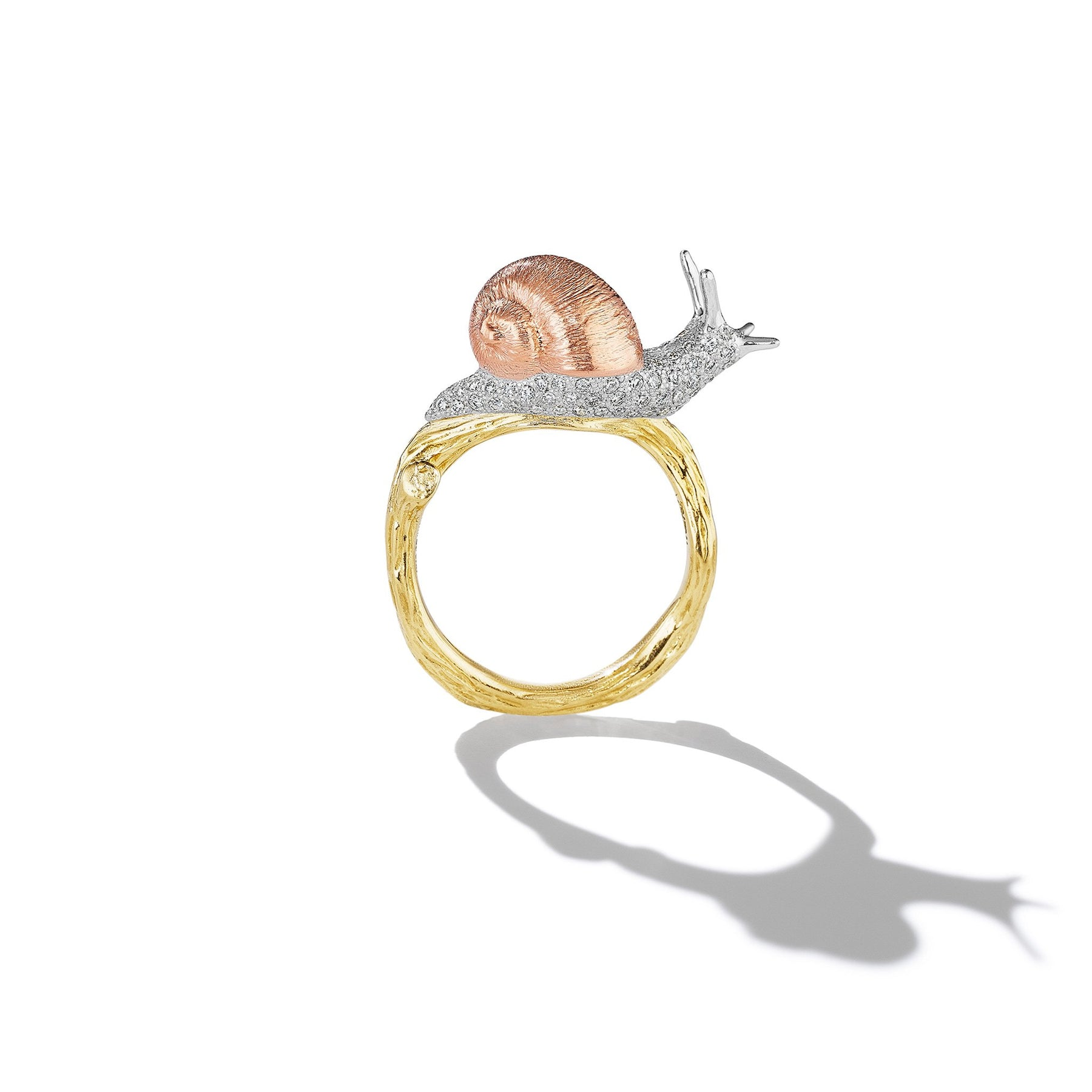 Mimi-So-Wonderland-Snail-Diamond-Twig-Ring_18k Yellow/White/Rose Gold