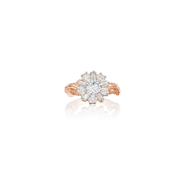 Mimi So Wonderland Ballerina White Sapphire Ring_18k Rose Gold