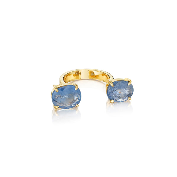 Zozo Blue Sapphire In-Between Ring_18k Yellow Gold