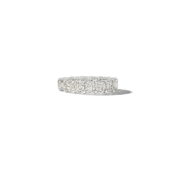 Mimi So Asscher Cut Diamond Eternity Band_Platinum